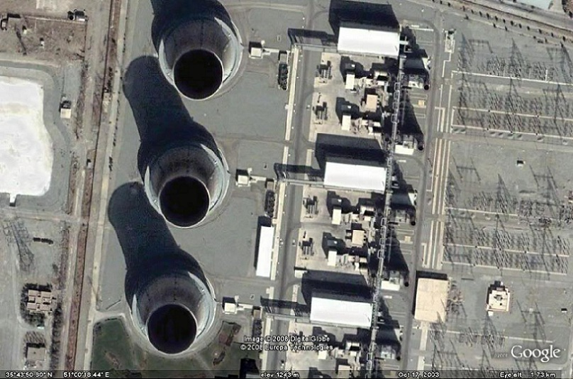 Iran's Bushehr Nuclear Power Plant - Satellite view