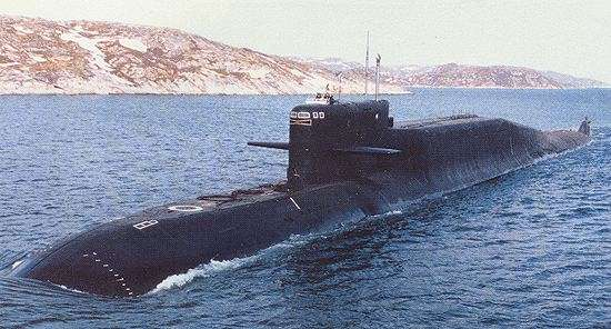 "Russian ""Delta IV"" Class Nuclear/Electric Ballistic Missile Submarine (SSBN-type)"