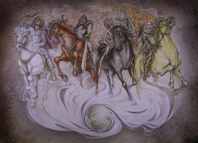 4 horsemen of the apocalypse artwork
