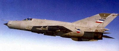 "Russian Mikoyan-Gurevich MiG-21 ""Fishbed"" Fighter-Interceptor (Yugoslav Air Force markings)"