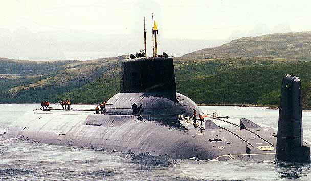 "Russian ""Typhoon"" Class Nuclear/Electric Ballistic Missile Submarine (SSBN-type)"